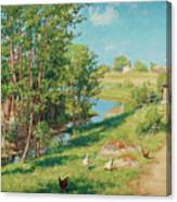 Summer Day By The Stream Canvas Print