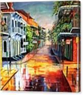 Summer Day On Royal Street Canvas Print
