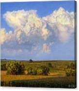 Summer Evening Formations Canvas Print