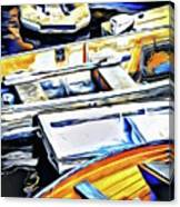 Summer Fishing Boats Canvas Print