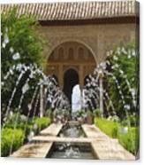 Summer Fountain Canvas Print