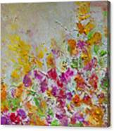 Summer Fragrance Abstract Painting Canvas Print