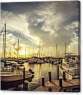 Summer Harbor Sunset Canvas Print