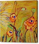 Summer Hibiscus Flower Canvas Print
