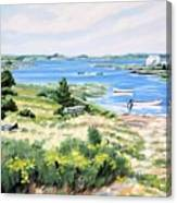 Summer In Lunenburg Harbour Canvas Print