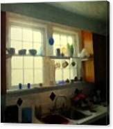 Summer Light In The Kitchen Canvas Print
