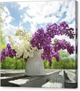 Summer Lilacs Canvas Print