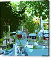 Summer Lunch Remembered Canvas Print