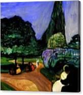 Summer Night At Studenterlunden Canvas Print