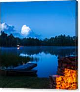 Summer Nights On The Pond Canvas Print