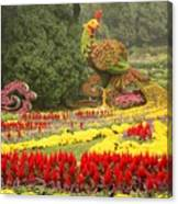 Summer Palace Flower Phoenix Canvas Print