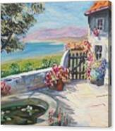 Summer Patio Canvas Print