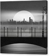 Summer Rain At The Bridge Canvas Print