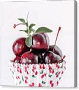 Summer Red Cherries Canvas Print