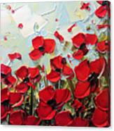 Summer Red Poppies Canvas Print