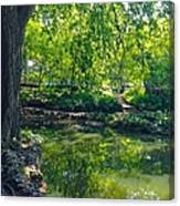 Summer Reflections At Lafayette Park Canvas Print