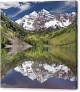 Maroon Bells Aspen Colorado Summer Reflections Canvas Print