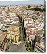 Summer Rooftops In Seville Spain Canvas Print