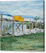Summer Row Boats Canvas Print