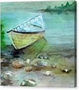 Summer Rowboat Canvas Print