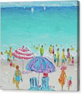 Summer Scene Diptych 1 Canvas Print