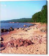 Summer Shores Of Lake Superior Canvas Print