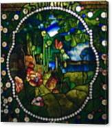Summer Stained Glass Panel Canvas Print