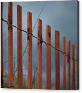 Summer Storm Beach Fence Canvas Print