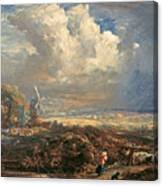 Summer Storm Near Pulborough. Sussex Canvas Print