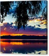 Sunset At Agency Lake, Oregon Canvas Print