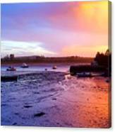 Summer Sunset At Low Tide Canvas Print