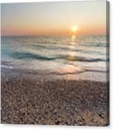 Summer Sunset At Pierport  Canvas Print