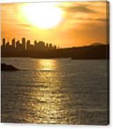 Summer Sunset In Sydney Canvas Print