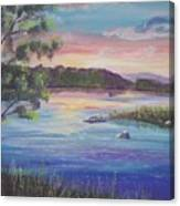 Summer Sunset On Fish Lake Canvas Print