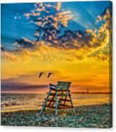 Summer Sunset On The Beach Canvas Print
