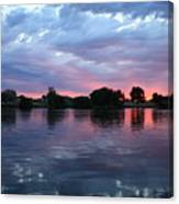 Summer Sunset On Yakima River 4 Canvas Print