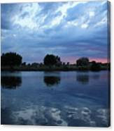 Summer Sunset On Yakima River 5 Canvas Print