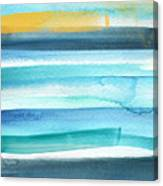 Summer Surf 2- Art By Linda Woods Canvas Print