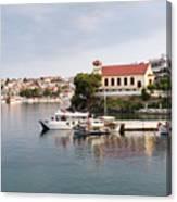 summer vacation scene Neos Marmaras Greece Canvas Print