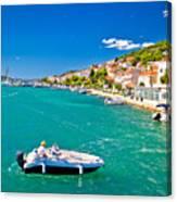 Summer View Of Tisno Coast Canvas Print