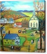 Summer Village Canvas Print