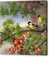 Summer Vine With Pine Tree Canvas Print