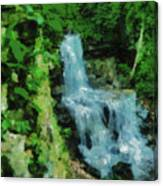 Summer Waterfall In West Milton Canvas Print