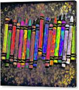 Summer's Crayon Love Canvas Print