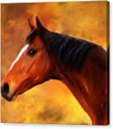 Summers End Quarter Horse Painting Canvas Print