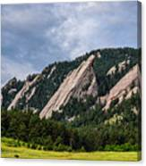 Summertime At The Flatirons Canvas Print