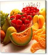 Summertime Fruit On White Canvas Print