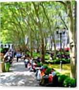 Summertime In Bryant Park Canvas Print