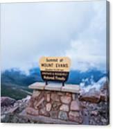Summit Of Mount Evans Canvas Print