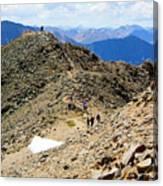 Summit On Mount Massive Summit Canvas Print